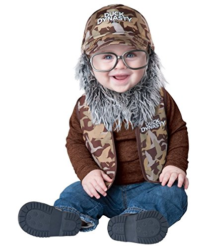 Duck Dynasty Baby Infant Costume Uncle Si (Grey Beard & Glasses) - Infant (Duck Dynasty Si Costumes)