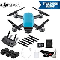 DJI Spark Portable Mini Drone Quadcopter Professional Bundle (Sky Blue) w/Remote Controller + 2 Year Extended Warranty