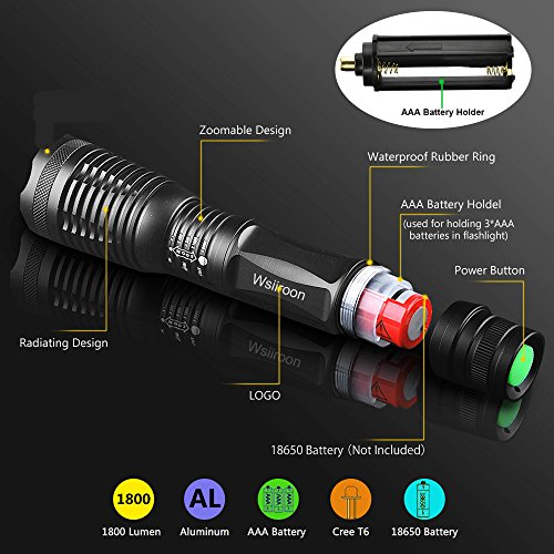 Buy led flashlight t6 2 pack