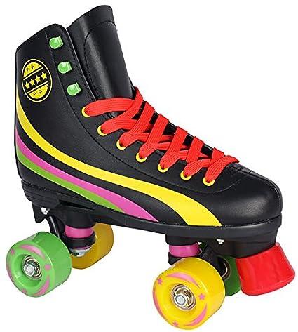 Rollschuhe f/ür Kinder Rollerskates NEU Gr 35, schwarz 34 35 36 37 38 39 40 Pink wei/ß schwarz