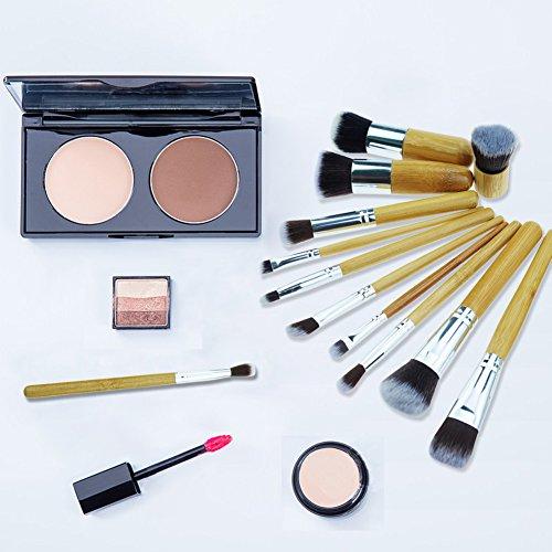 Bamboo Makeup Brushes Start Makers 11 Pieces Natural Bamboo