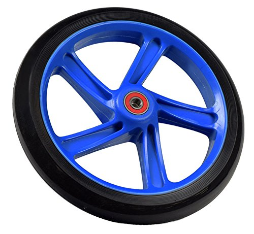 Replacement Wheel for the Razor A5 Lux Kick Scooter 200 mm (8''): Black Wheel with BLUE Hub by California-Toys.com