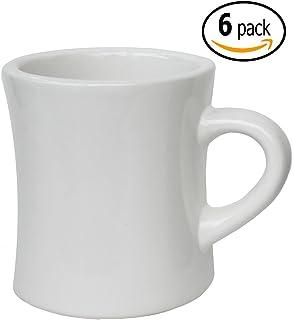 iti ceramic diner coffee mugs with pan scraper 10 ounce 6pack