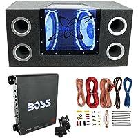Pyramid BNPS122 121200W Car Audio Subwoofer + Box + 1100W Mono Amp +Wiring Kit