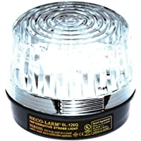 SECO-LARM SL-126-A24Q/C Strobe Light, Clear Lens; For informative general signaling requirements; For 6 to 24-Volt use; Incorrect polarity cannot damage circuit or draw current; Easy 2-wire installation, regardless of voltage