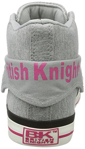 British Knights Roco - Zapatillas Mujer Grau (Grey/Fuchsia)