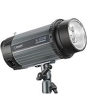 Neewer 300W 5600K Flash Luz Estroboscópica Monolight Estudio Foto con Lámpara Modelado, Speedlite Profesional Aleación Aluminio para Fotografía Estudio Ubicación Interior y Fotografía Retrato(N-300W)