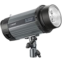 Neewer 300W 5600K Photo Studio Strobe Flash Light Monolight with Modeling Lamp, Aluminium Alloy Professional Speedlite for Indoor Studio Location Model Photography and Portrait Photography (N-300W)