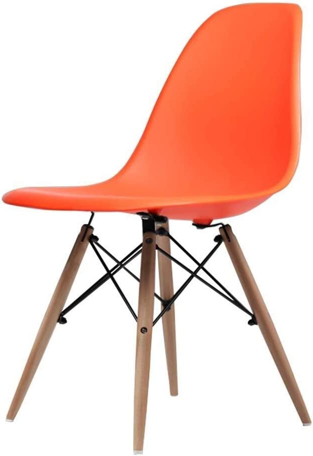 DJ Eetkamerstoel Dekstoel Eettafel Kantoor Modern design Eetstoelen Maximaal belading 150 kg (Kleur: blauw) Kleur: wit ORANJE