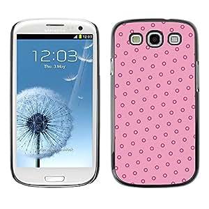 TopCaseStore / la caja del caucho duro de la cubierta de protección de la piel - Pink Red Vintage Wallpaper - Samsung Galaxy S3 I9300