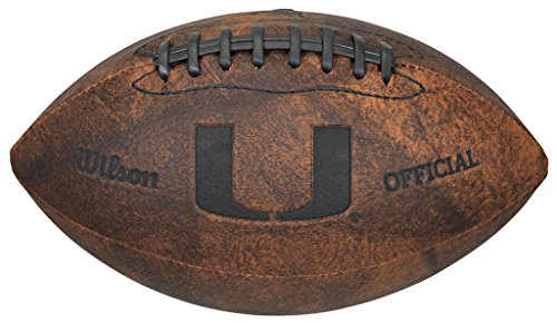 Game Master NCAA Miami Hurricanes Throwback Football, 9-inches