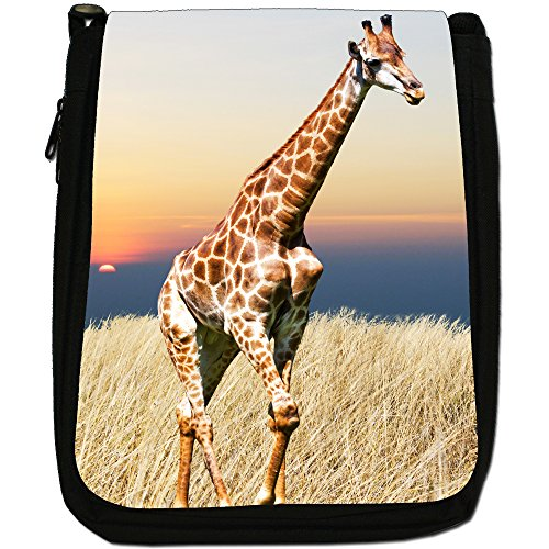 Size Black Shoulder Medium Canvas Sunset The Bag In African Giraffe PwqgEYFP