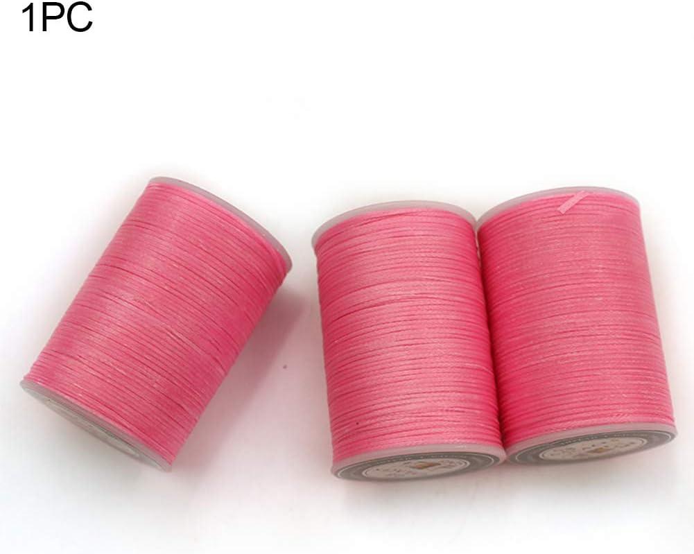 Gioielli Perline Artigianato Multicolore in Poliestere Cucito S000 Filo Cerato da 0,8 mm per Cucire pelletteria Accessori Taglia Libera