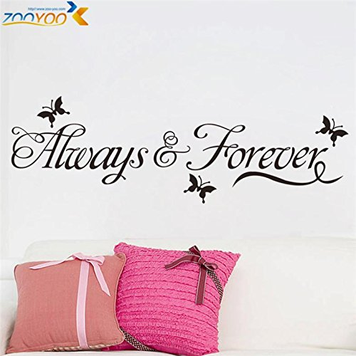 FairyTeller Always & Forever Home Decorations Creative Wall Decals Zooyoo8153 Decorative Adesivo De Parede Diy Removable Vinyl Wall Stickers