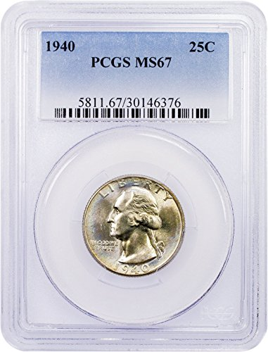 1940 P Washington Quarter Quarter MS67 PCGS