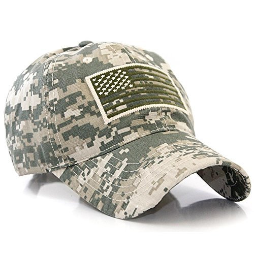 Pit Bull US Flag Patch Tactical Style Baseball Cap Hat Multicam