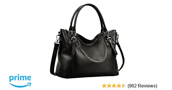 59472535d1e0 Amazon.com  Heshe Womens Genuinne Leather Handbags Tote Top Handle Bag  Shoulder Bag for Women Crossbody Bags Ladies Designer Purse  Shoes