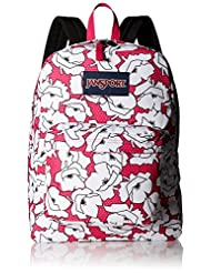 Jansport Superbreak Backpack - pink/white, one size