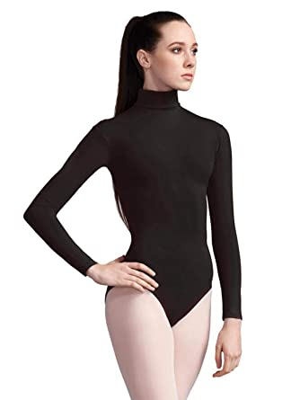 112fffa4e1b Amazon.com: Capezio Women's Turtleneck Long Sleeve Leotard: Clothing