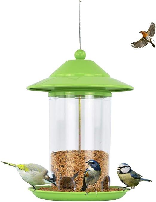 CCJW Comedero para pájaros Alimentador de Aves Manija Colgando Árbol Parque Jardín Aves Silvestres Alimentación Contenedor de Comida al Aire Libre: Amazon.es: Hogar