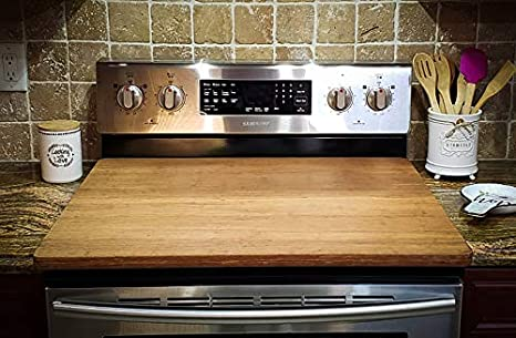 Extra-Large Reversible Stove-Top Cover Bamboo Cutting Board, 30 lbs. Heavy  Duty Cutting Board (Strand Woven Bamboo, 30x24x1)
