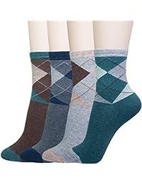 Women's Cotton Novelty Art Printed Crew Socks Famous Artist Painting Argyle Fashion Gift Size 5-9