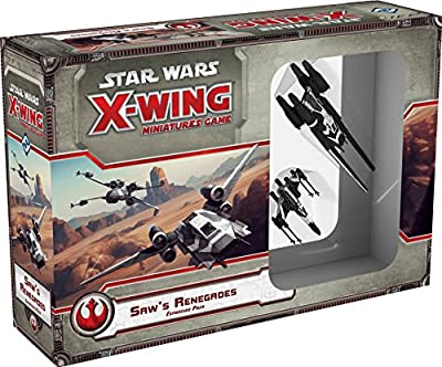 Fantasy Flight Games FFG Star Wars X-Wing: Saw`s Renegades Expansion Pack from Fantasy Flight Games
