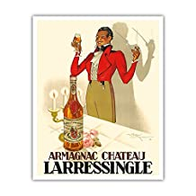 Armagnac Chateau Larressingle - French Brandy - Vintage Advertising Poster by Henri Le Monnier c.1938 - Fine Art Print - 16in x 20in