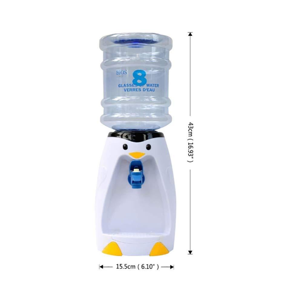 H/&RB 2.5L Kapazit/ät Desktop Wasser Spender Mit Flasche Pinguin Wasser Container