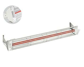 Quality Brand Company QBC Infratech WD60480WHT WD Series Dual Element Electric Infrared Heater 61 1/