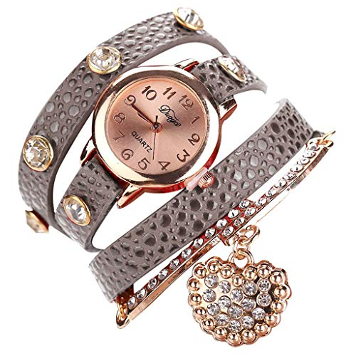 (chenqiu Casual Fashion Simple Ladies Bracelet Watch,Fashion Rhinestone Watch Twine Bracelet Women Luxury Quartz Wrist Watches)