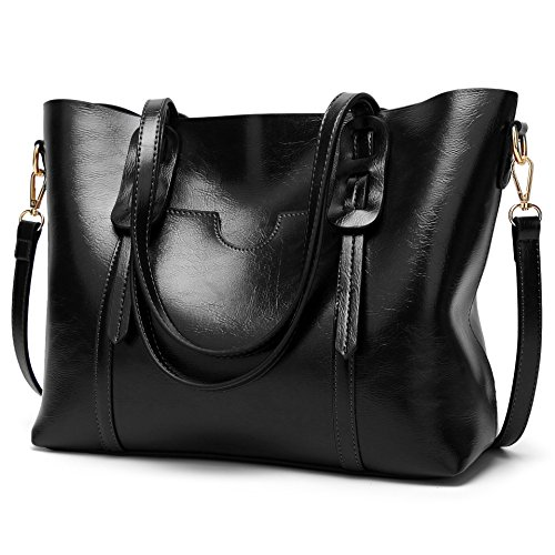LoZoDo Women Top Handle Satchel Handbags Shoulder Bag Tote Purse (Black 2) Classic Top Zip Shoulder Bag