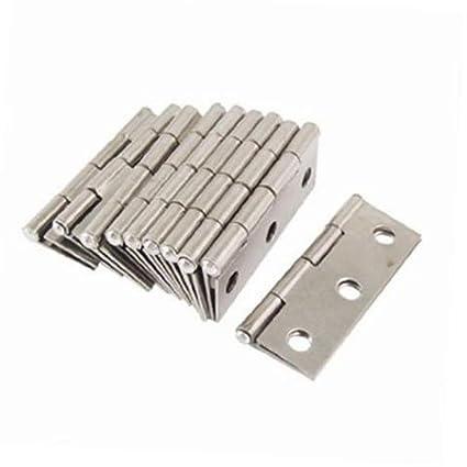 Pixnor – Bisagras de acero inoxidable Conector para ventana Armario – 10ST (Plata)