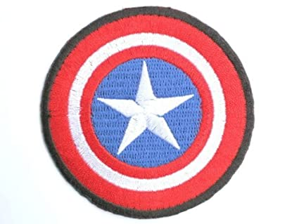 Amazon.com : CAPTAIN AMERICA Shield Iron On Emroidered Patch 2.7 ...