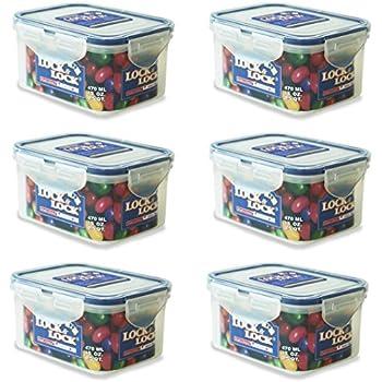 Amazoncom LOCK LOCK Pack of 4 Airtight Rectangular Food