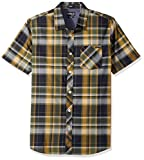O'Neill Men's Plaid Short Sleeve Shirt, Navy, Small