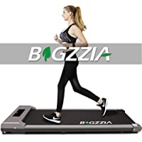 Motorised Treadmill, Under Desk Treadmill Portable Walking Running Pad Flat Slim Machine with Remote Control and LCD…