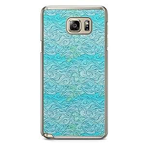 Waves Samsung Note 5 Transparent Edge Case - Design 7