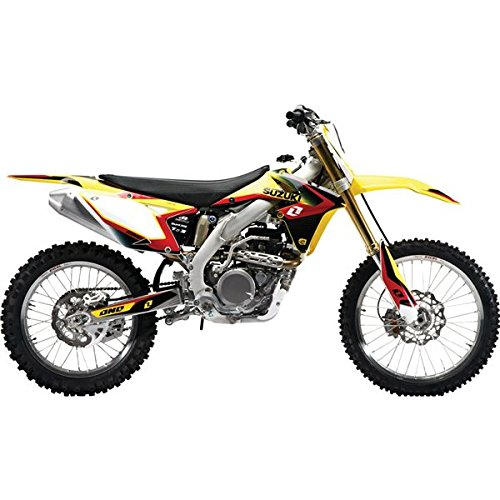 2012 ONE INDUSTRIES DELTA GRAPHICS KIT - SUZUKI RMZ 450 - 2008-2014 _ (One Industries Suzuki Graphics)