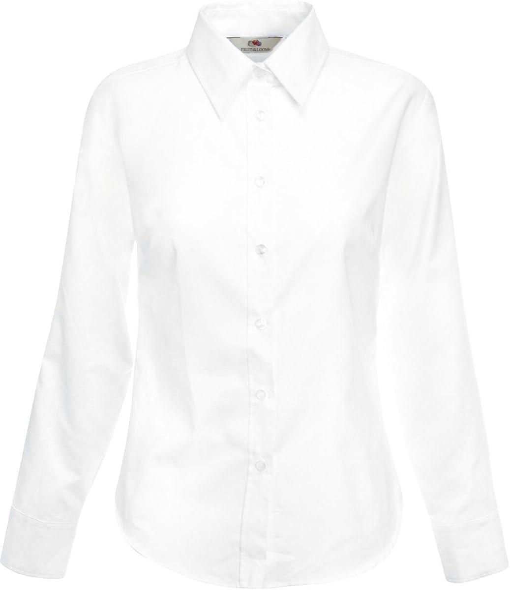 Camisa Oxford de manga larga para mujer, de la marca Fruit of ...