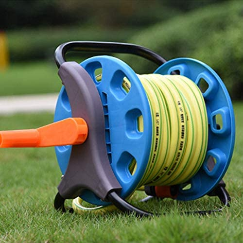 WolfGo Garden Hose Reel Cart - Portable Garden Water Pipe Hose Reel Cart Outdoor Planting Hosepipe Organizer