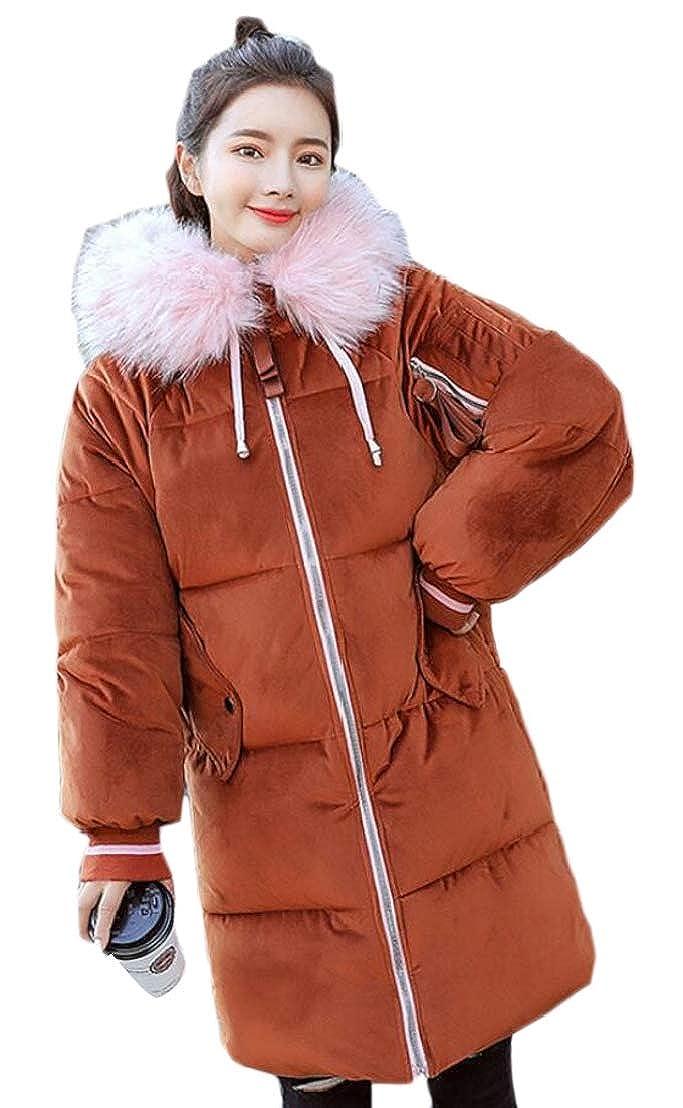 2 LEISHOP Womens Warm Winter Faux Fur Jackets Coats Hooded Parka Overcoat