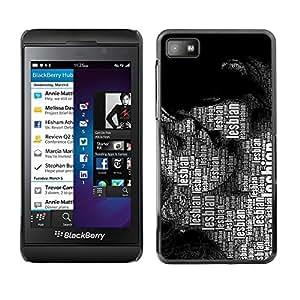 Estuche Cubierta Shell Smartphone estuche protector duro para el teléfono móvil Caso Blackberry Z10 / CECELL Phone case / / Lesbian Lgbt Quote Art Women Kissing Rights /