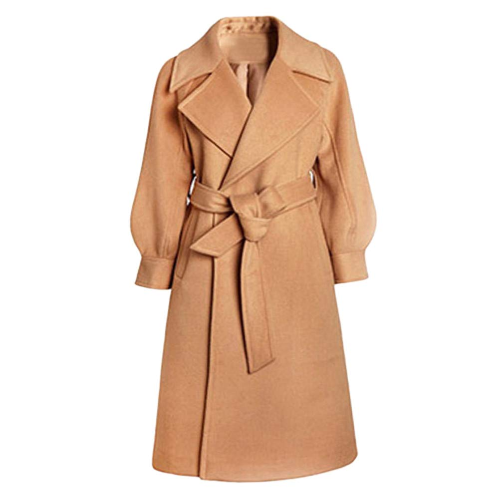 HHmei Women Winter Trench, Elegant Long Sleeve Overcoat Outwear Jacket Belt Coat HHmei_Coat_8Nov04_071