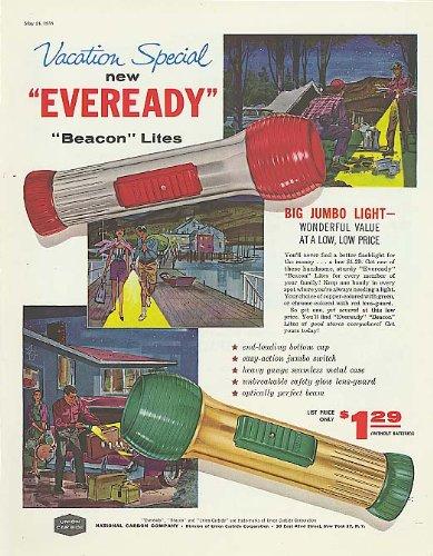 Vacation Special Eveready Beacon Flashlight ad 1958
