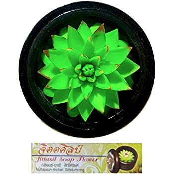 Jittasil Thai Hand-Carved Soap Cactus, 4 Inch Scented Soap Carving, Succulent (Agave)
