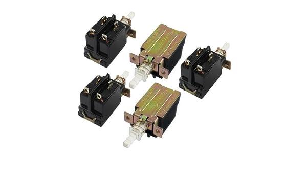 5 piezas de la CA 250V 8A 4 Pin 4P DPST enclavamiento del interruptor del empuje del botón de encendido de bloqueo: Amazon.com: Industrial & Scientific