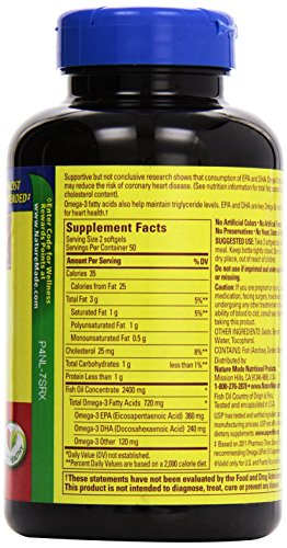 031604013288 - Nature Made Fish Oil Omega-3, 1200mg, 100 Softgels carousel main 4