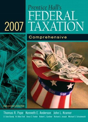 Prentice Hall's Federal Taxation 2007: Comprehensive (20th Edition)