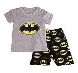 "Image of [Baby House] ""Bat Man "" Boys Shorts 2 Piece Pajama set 100% Cotton G6057T4,Gray,4T"